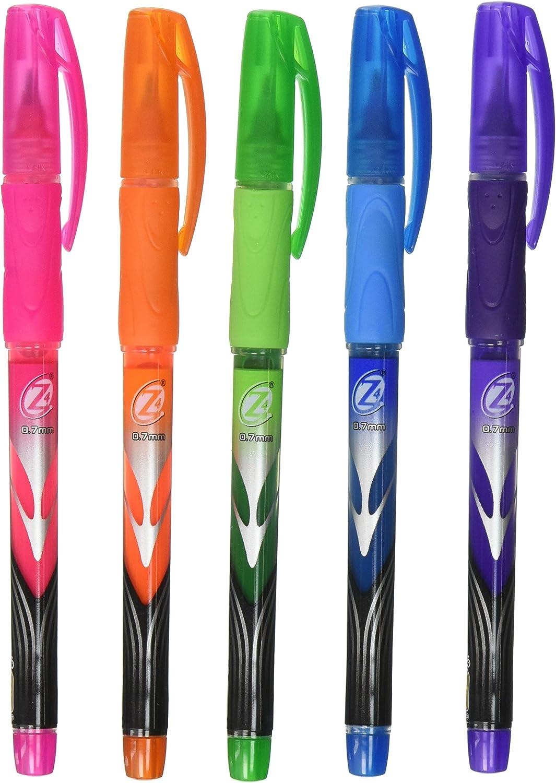 Bic RollerGlide Fine Point Deco Neon Pens, Assorted Colors 5 ea