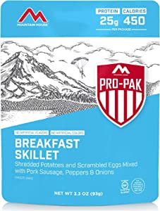 Mountain House Breakfast Skillet Pro-Pak | Freeze Dried Backpacking & Camping Food | One Serving | Gluten-Free