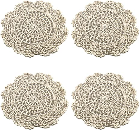 shakes geometric black and white cotton centerpiece table linens doiley Set of 4 cloth placemats
