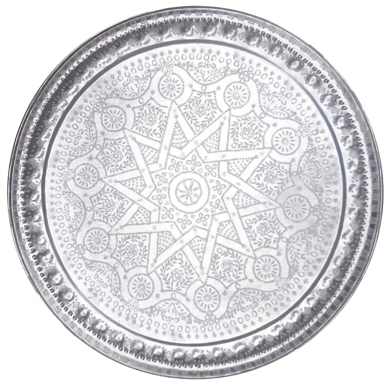 Marrakech Accessoires Beldi Antiscivolo Vassoio Rotondo in Stile Orientale 86 cm