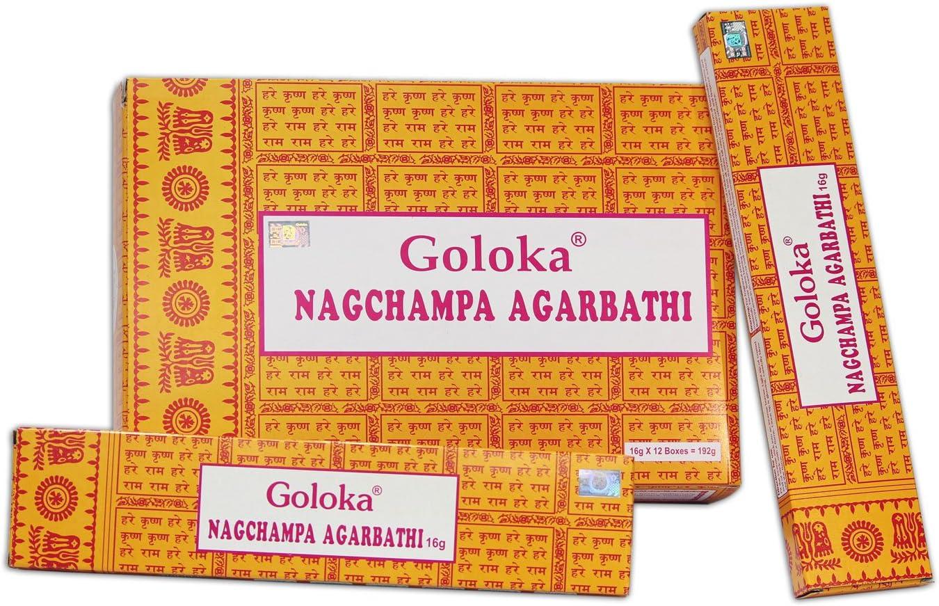 Juego de Varillas de Incienso nag champa, 1 pack, 16 g (Paquete de 12)