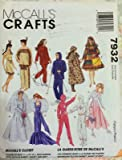 NEW 1995 McCalls 7932 SEWING PATTERN Fashion Doll Clothes 4 Barbie /Ken CRAFT supply:just-a-gramma