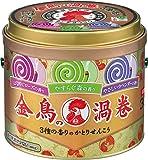 金鳥の渦巻 蚊取り線香 3種の香り 30巻 缶 (アロマローズ・ラベンダー・森の香り)