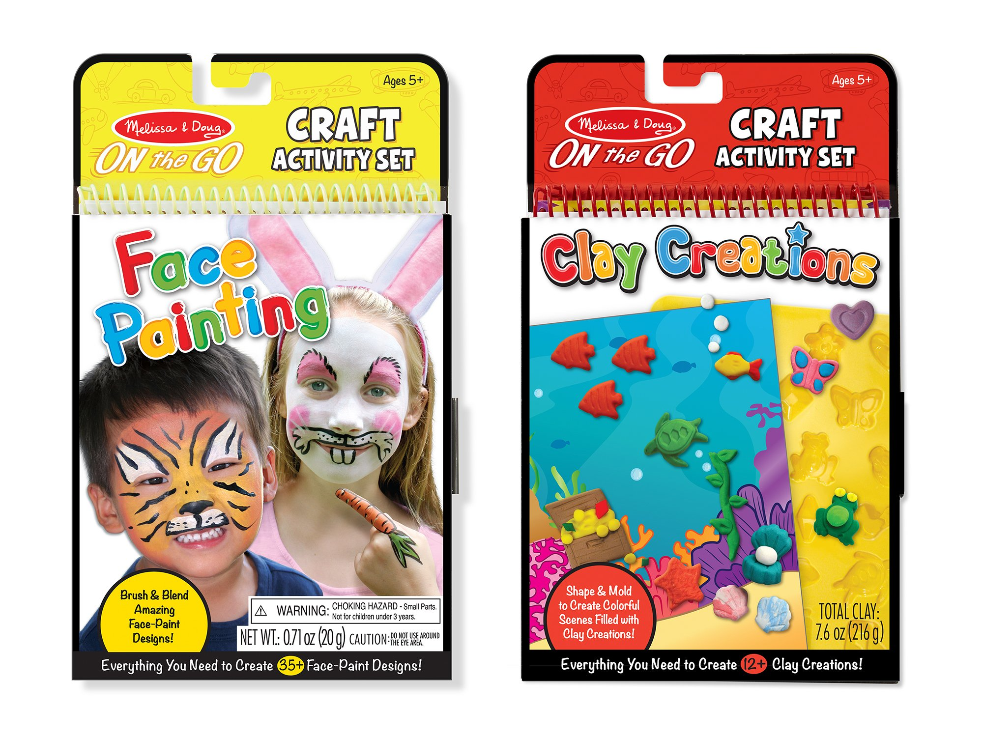 Melissa & Doug On the Go Craft Activity Sets - Face Painting and Clay Creations by Melissa & Doug (Image #5)