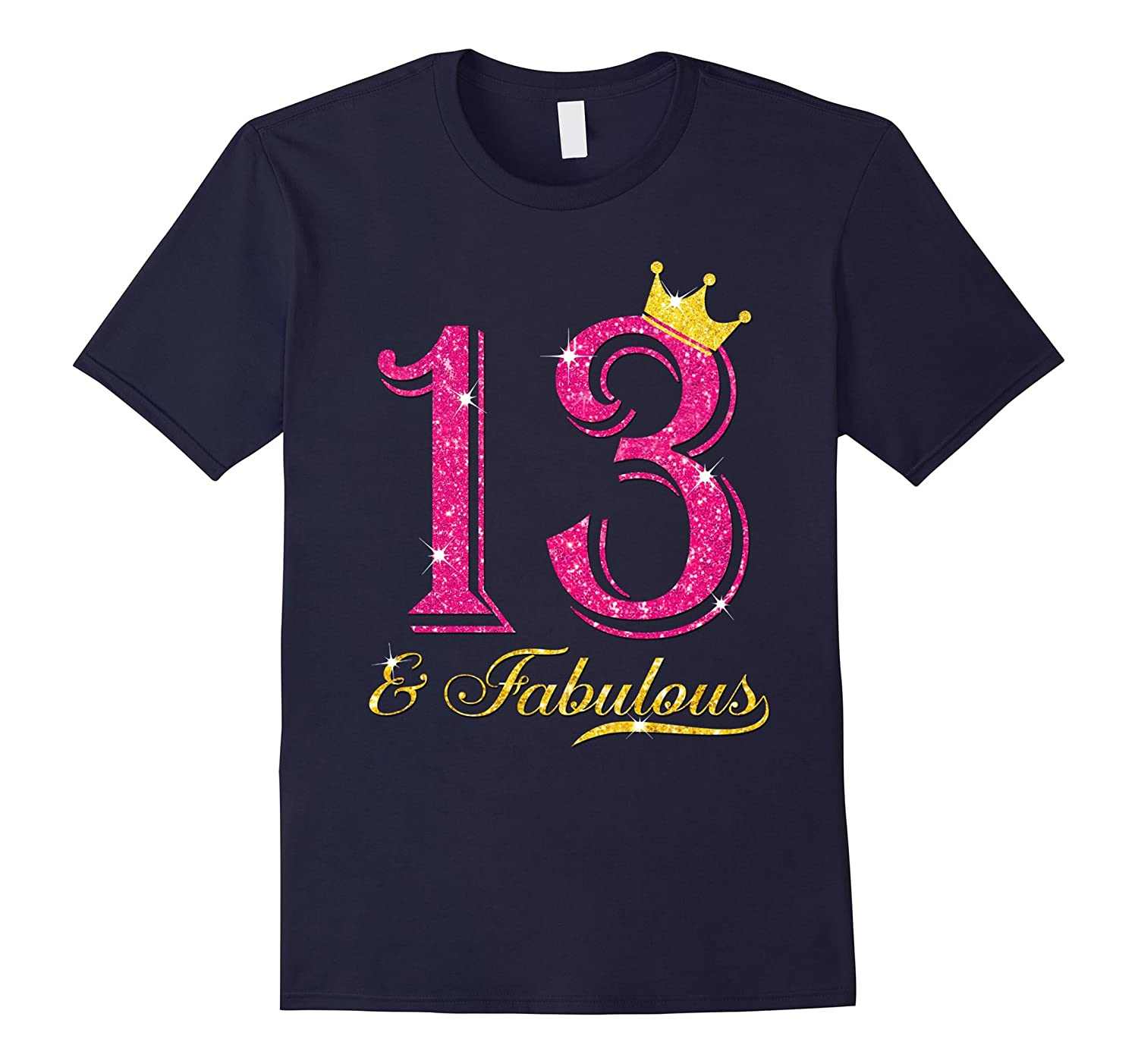 13th Birthday Girl Fabulous Princess Shirt-PL