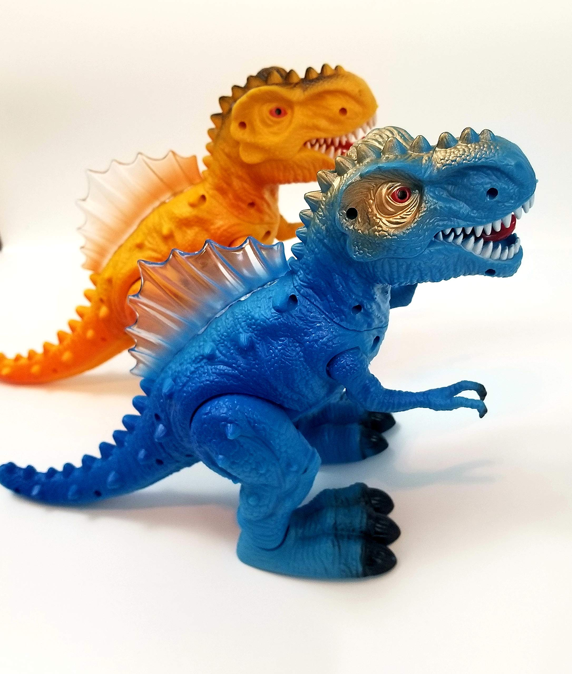T-Rex Electronic Walking Dinosaur with Flashing Lights and Realistic Animal Sounds (Blue) by Vabliss (Image #1)