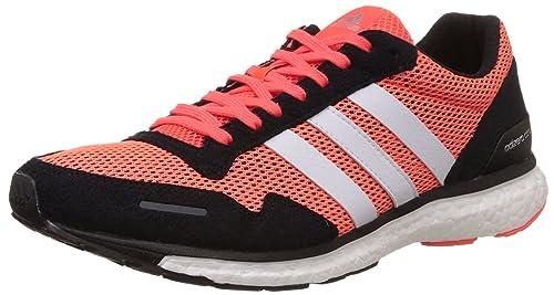 Adidas adizero adios 3 uomini scarpe da corsa, multicolore (solare rossa