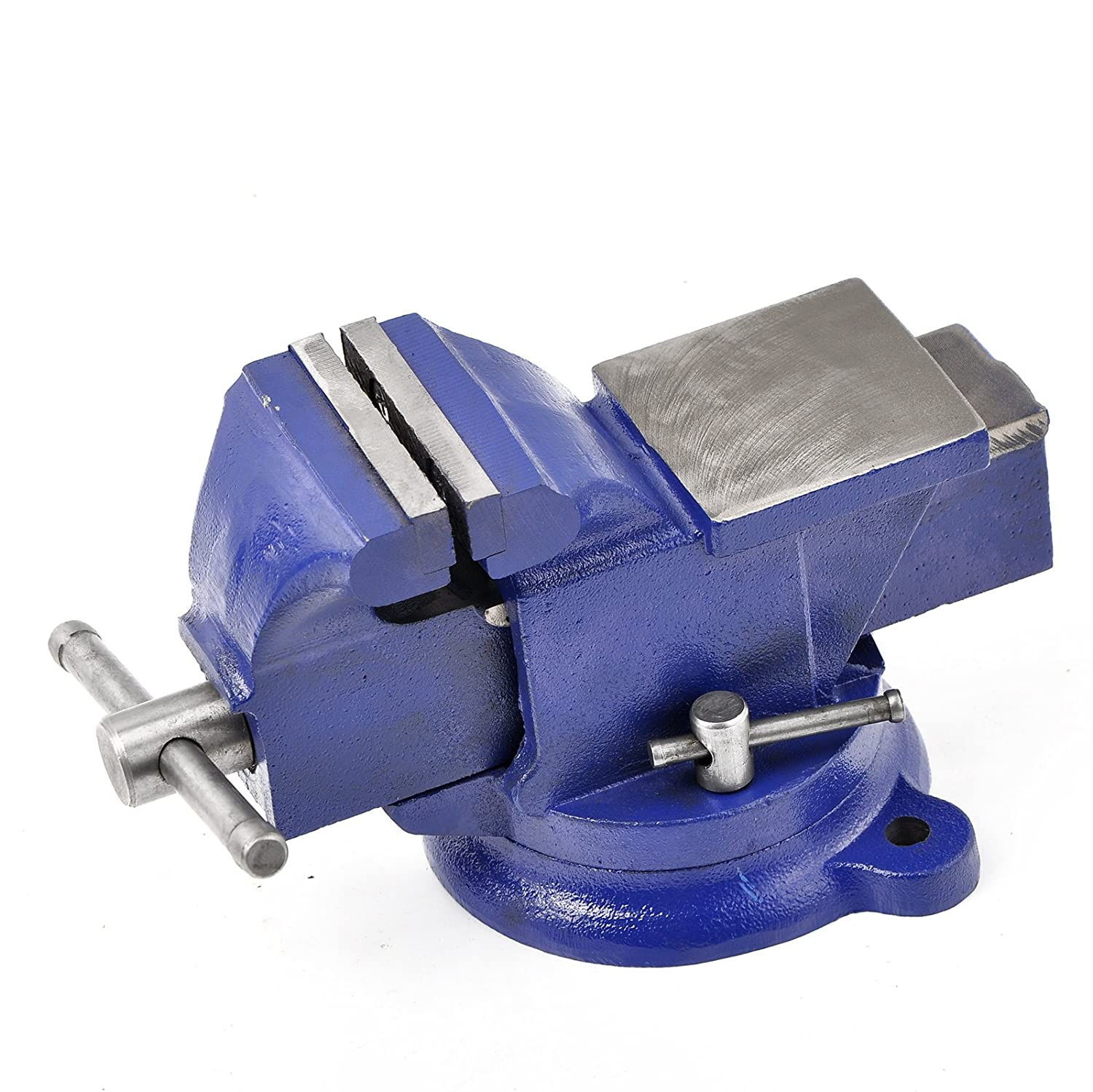 """5/"""" Bench Vise with Anvil Swivel Locking Base Table top Clamp Heavy Duty Steel"""