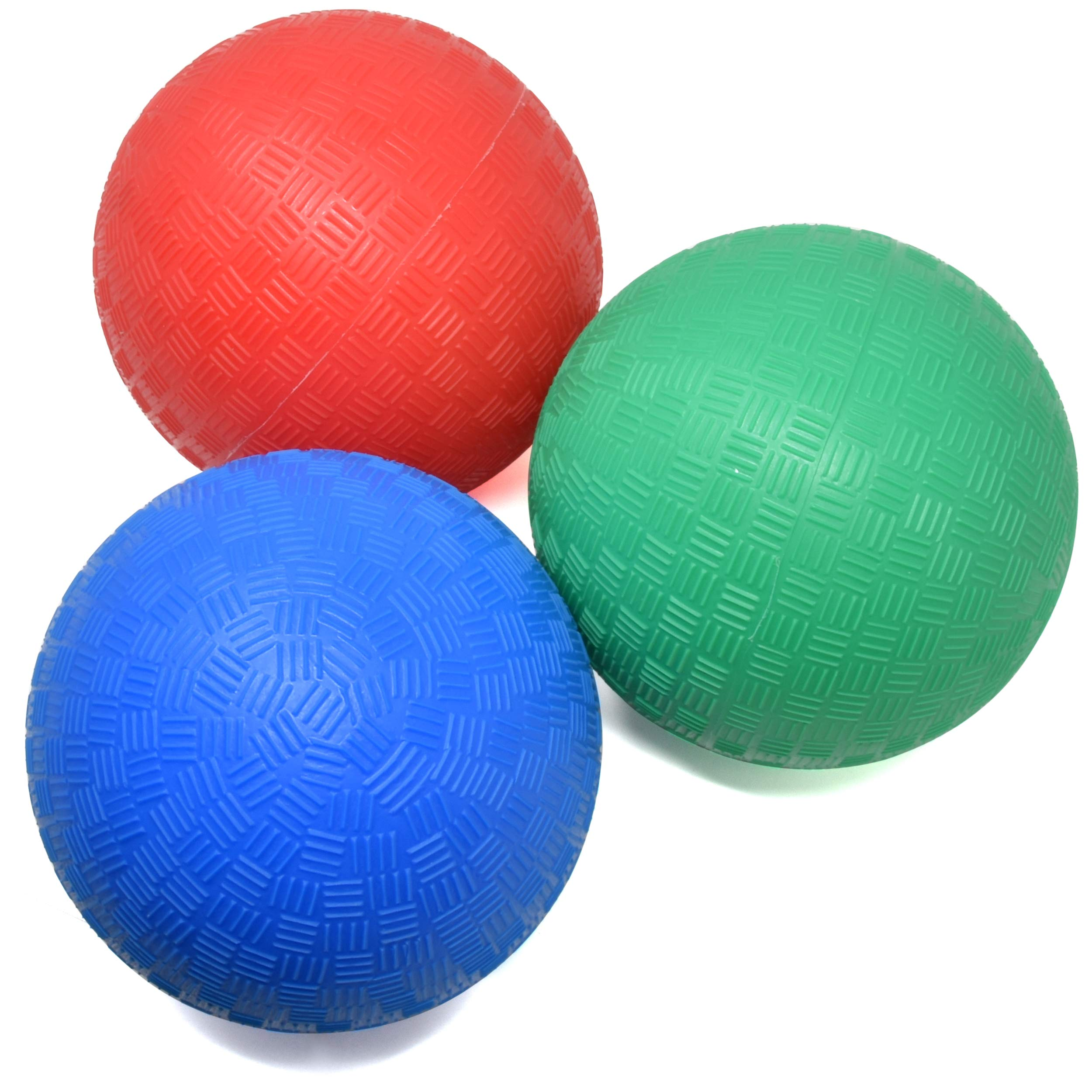 Number 1 in Gadgets 5 Inch Playground Balls, Set of 3 Mini Sports Balls for Soft Play, Rubber Dodge Balls for Indoor and Outdoor Use, Inflated Bouncy Easy Grip for Kids and Toddlers by Number 1 in Gadgets