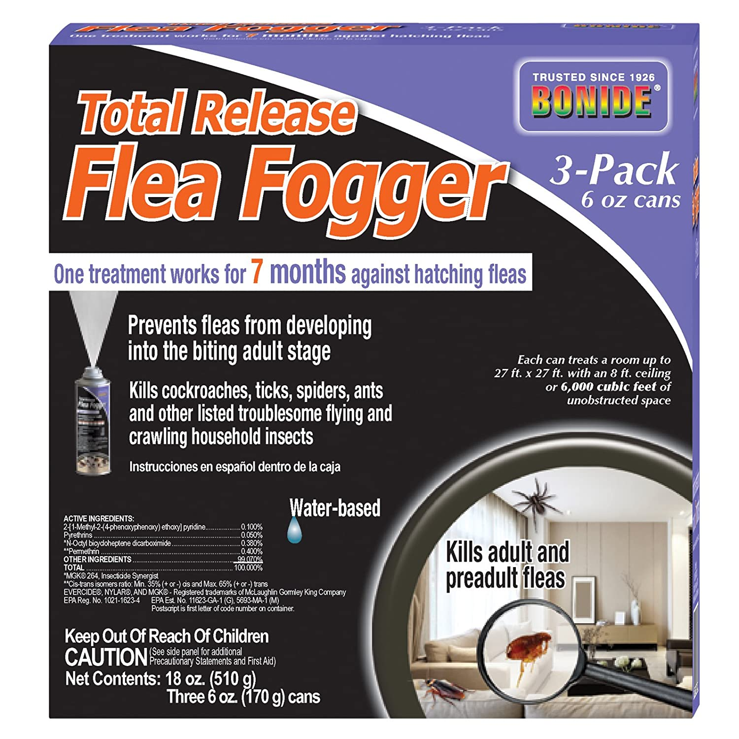 Bonide Chemical Total Release Flea Fogger