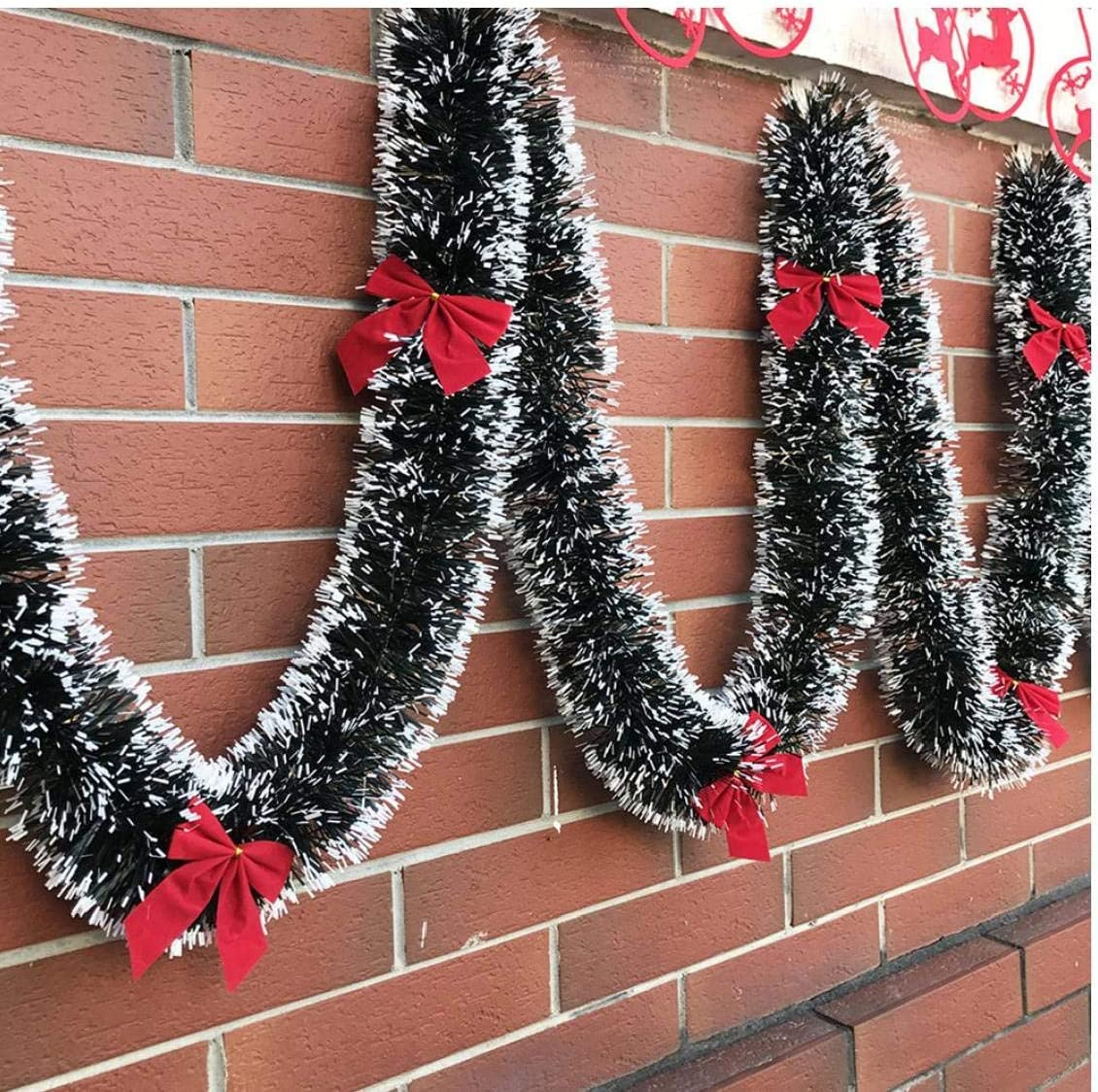 Case/&Cover 1pc Decorazione Natalizia Bar Tops Nastro Ghirlanda Christmas Tree Ornamenti Verde Scuro
