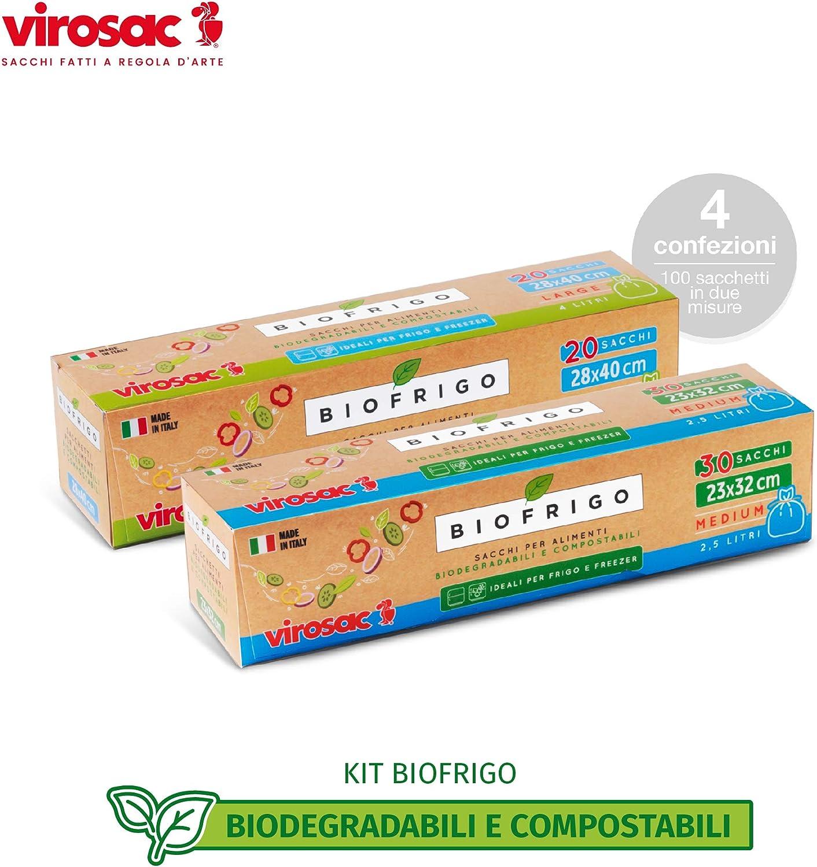Virosac 137141 - Bolsas de nevera y congelador biodegradables y ...