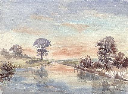Loch Landscape Art Mid 20th Century Watercolour