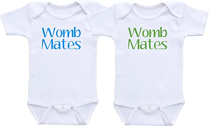 womb mates gifts for twins twins clothing Twin outfits womb mate twin outfits twin gifts gifts for twin babies newborn twin outfits
