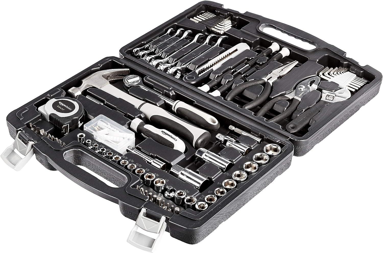 AmazonBasics 131-Piece General Household Home Repair and Mechanic's Hand Tool Kit Set