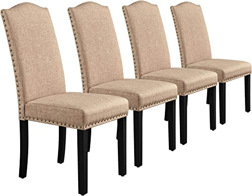 Yaheetech Dining Chairs Fabric Parson Chair