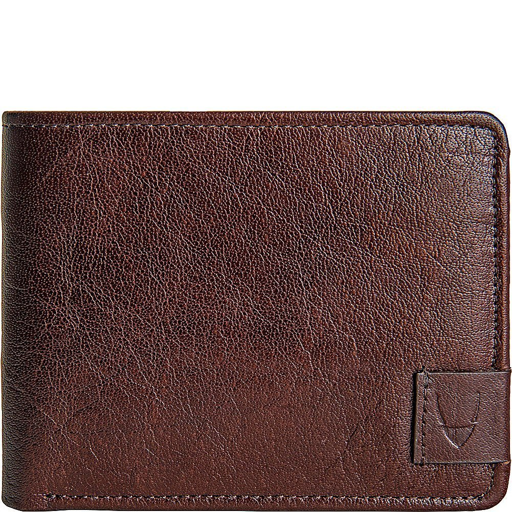 HIDESIGN Vespucci Buffalo Leather Trifold Wallet, Brown