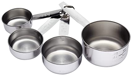 Amazon.com: Kitchencraft Stainless Steel Measuring Cups (4 ...