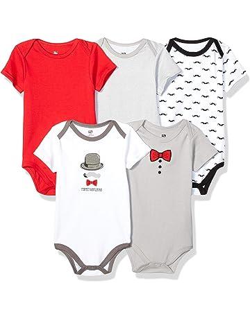 b6b4ef32d Hudson Baby Unisex Baby Cotton Bodysuits