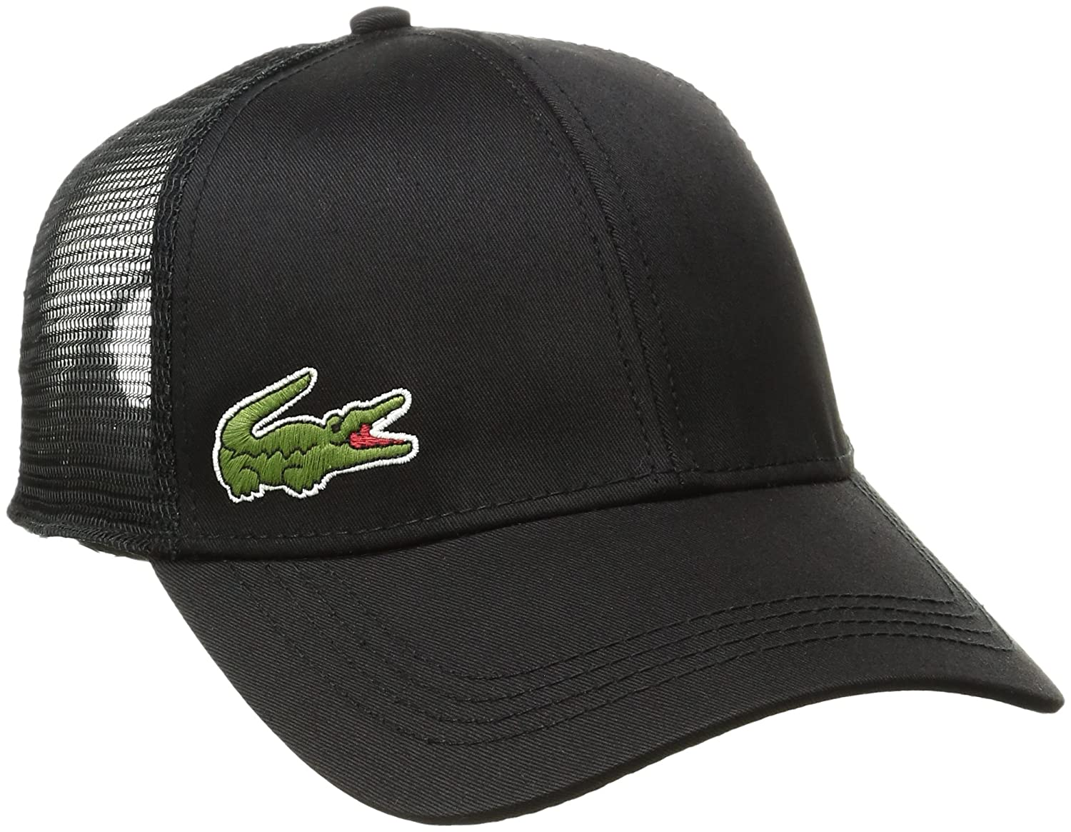 23cc916b5 Lacoste Mens Trucker Cap In Black One Size (Adult)  Amazon.co.uk  Clothing