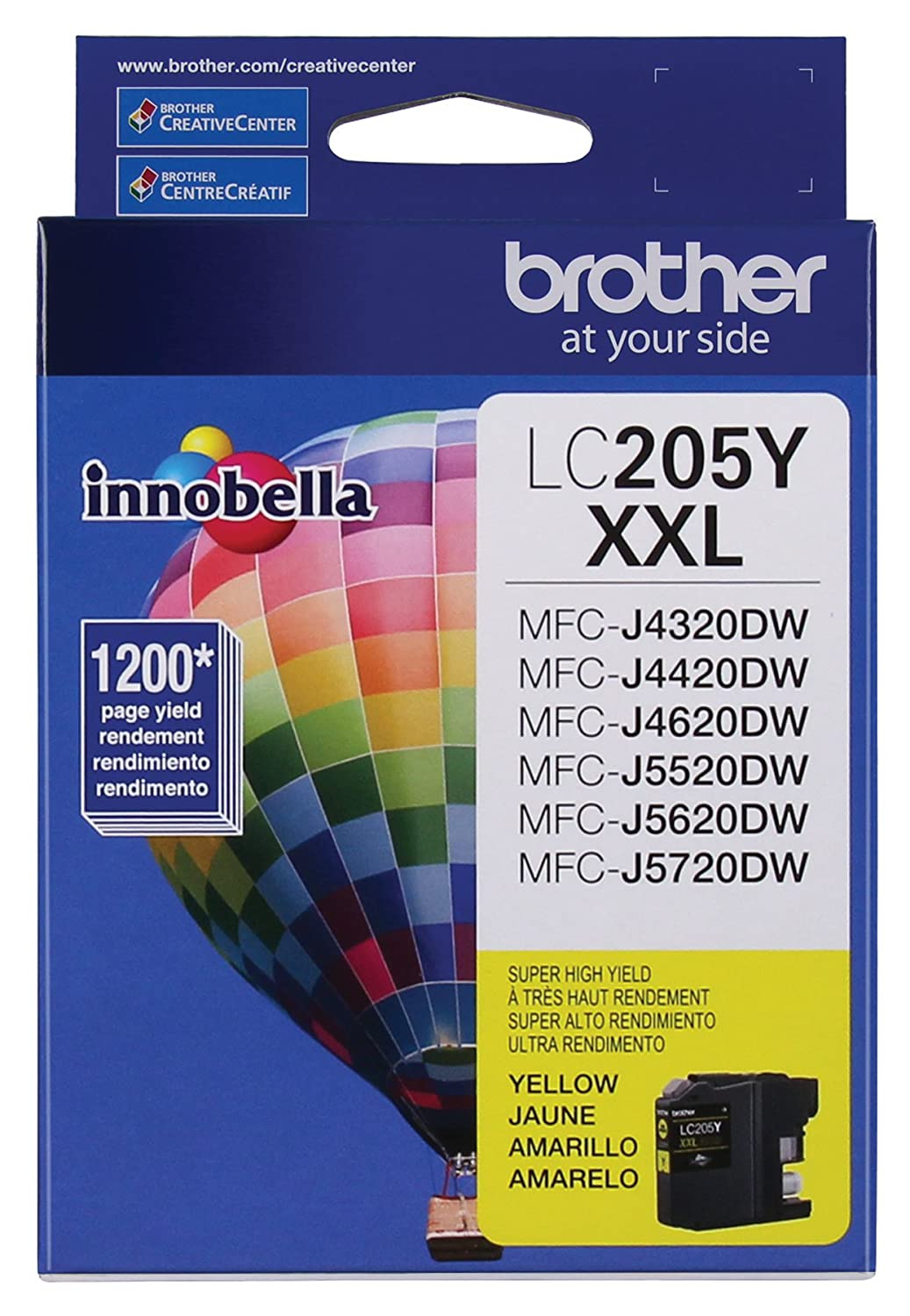 Amazon Brother Printer LC205Y Super High Yield Ink Cartridge Yellow Office Products