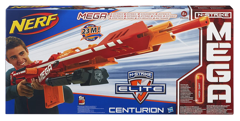 Amazon.com: Nerf - A6288E240 - Jeu de Fléchettes - Mega Elite Centurion:  Toys & Games