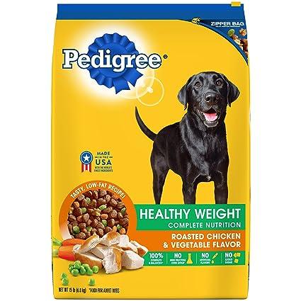 Amazoncom Pedigree Healthy Weight Adult Dry Dog Food Roasted