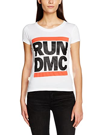 a37dcf9efd6 Rockoff Trade Women s Run Dmc Logo Fitted T - Shirt  Amazon.co.uk  Clothing