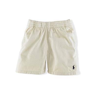 Ralph Lauren Toddler Boys Cotton Twill Shorts (2T, Sand Brown)