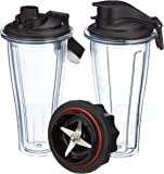 Vitamix Ascent Series Blending Cup Starter Kit, 600 mL, BPA-Free Plastic 600 milliliters, Clear