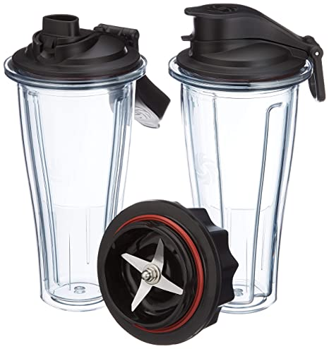 Vitamix 0703113632334 accesorio de licuadora Blender bottle - Accesorios de licuadora (Blender bottle, Black, Transparente, Tritan, 0,6 L, 115 mm, 120 ...