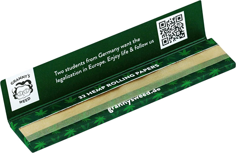 6 St/ück Grannys Organic Long Papers extra Slim aus Hanf ungebleicht King Size