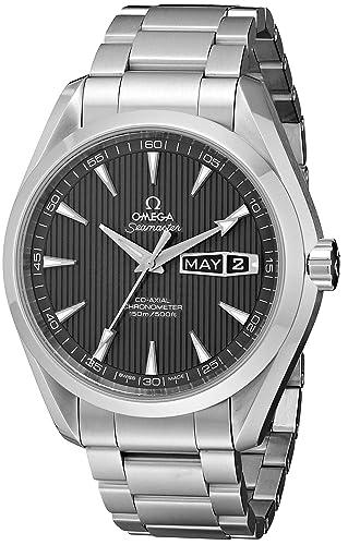 Omega de hombre 231.10.43.22.06.001 Seamaster Tech gris Dial reloj: Omega: Amazon.es: Relojes