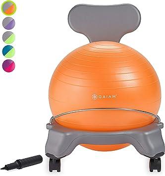 Gaiam Kids Silla con balón de equilibrio – Silla clásica con balón ...