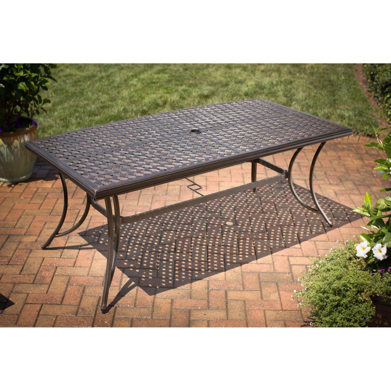 Amazon com agio heritage7pc 7 piece heritage dining set garden outdoor