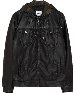 32411103 Zara Men's Perforated Faux Leather Jacket 8281/464: Amazon.co.uk ...