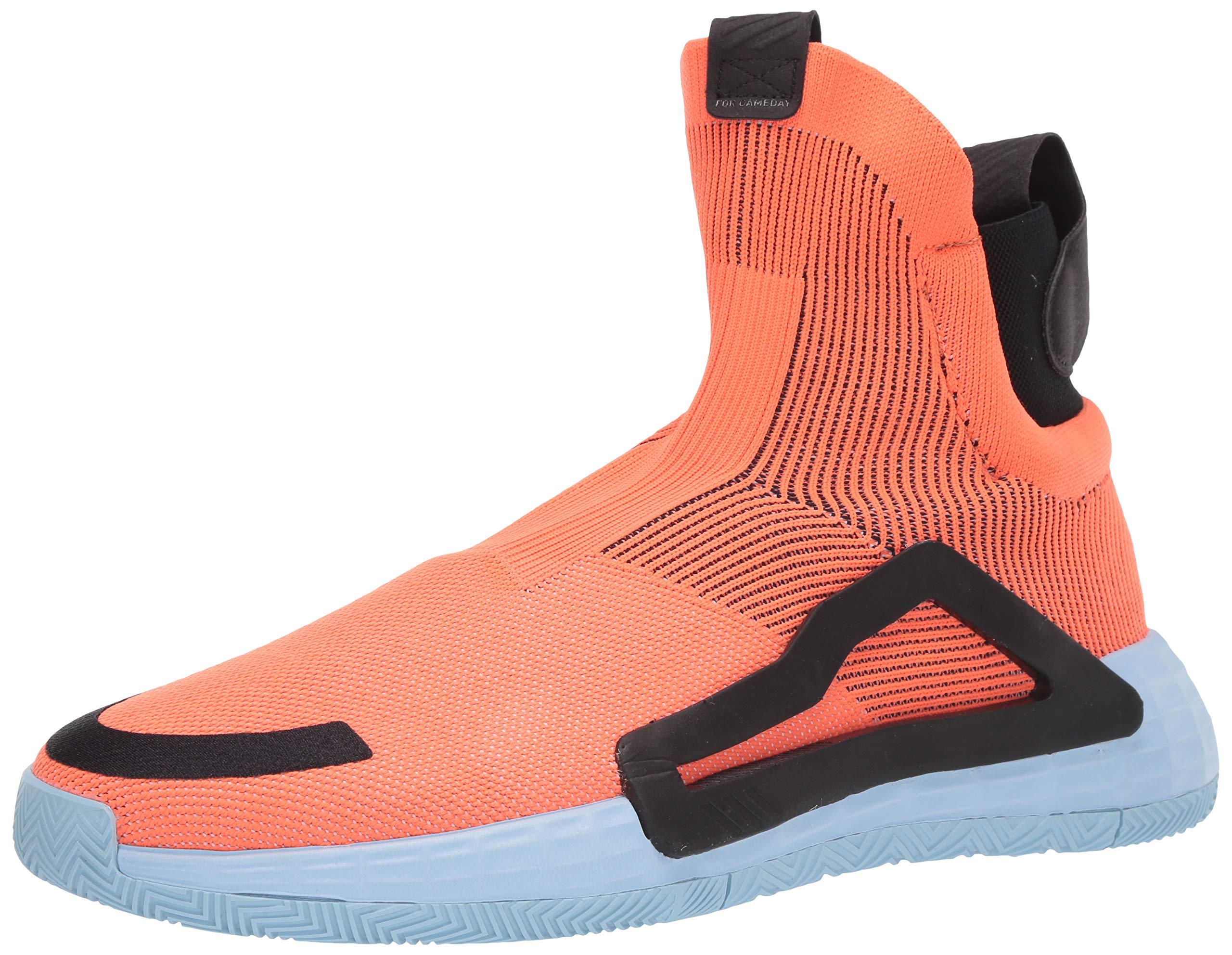 adidas Men's N3Xt L3V3L Basketball Shoe, hi-res Coral/Glow Blue/Black, 15 M US by adidas