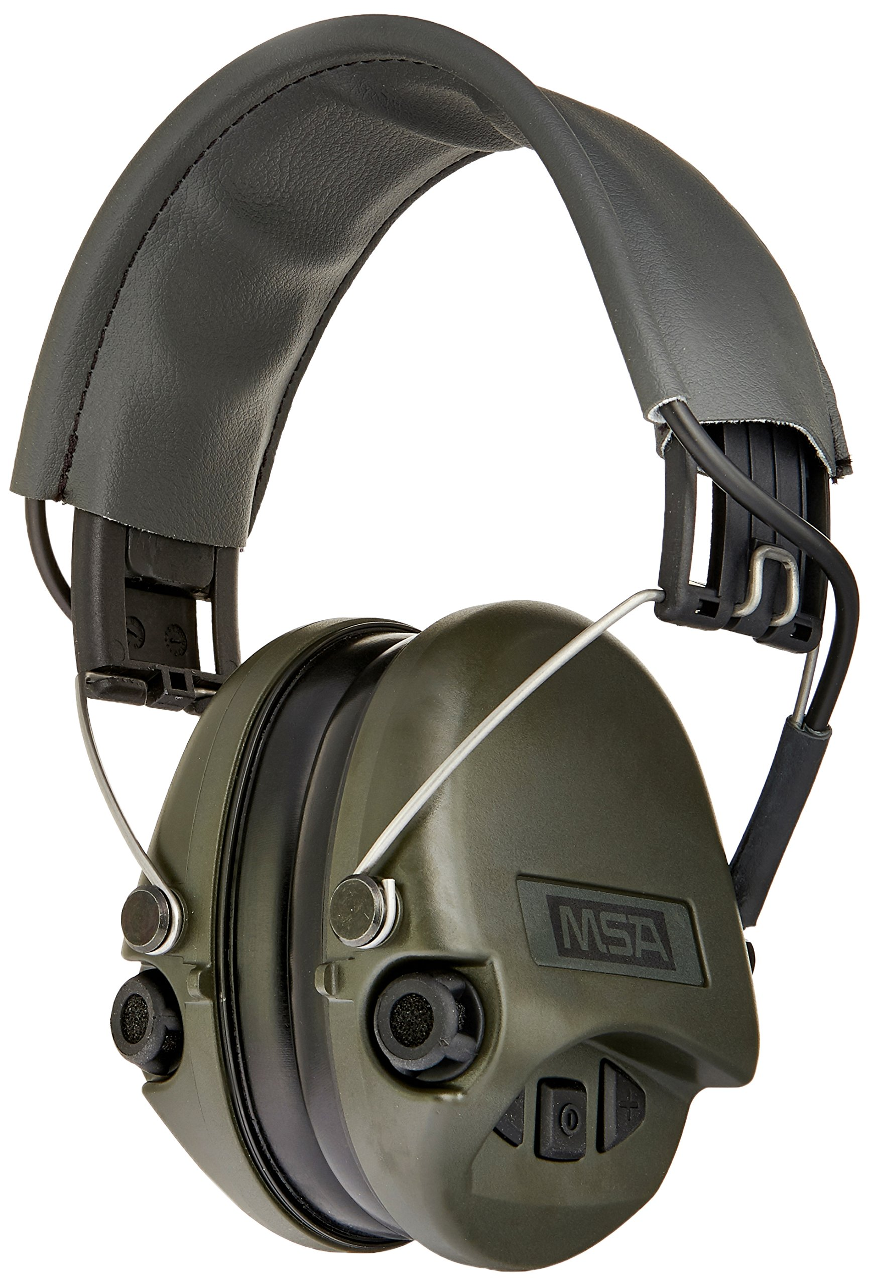 MSA Sordin Supreme BASIC with AUX Input and grey Leather-Band SOR75301 - Electronic Earmuff Defenders Hearing Protection