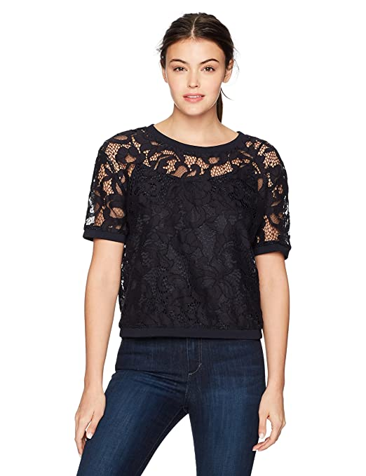 Juicy Couture Black Label Women's Hibiscus Woven Lace Top by Juicy Couture