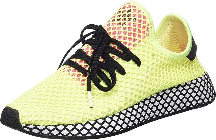 adidas Deerupt Runner Sneakers Fitnessschuhe Damen Herren Unisex Gelb Größe 37 1/3 bis 48