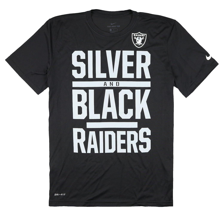 san francisco e1e3c cbfa9 Amazon.com: Nike Men's Oakland Raiders Silver and Black Dri ...