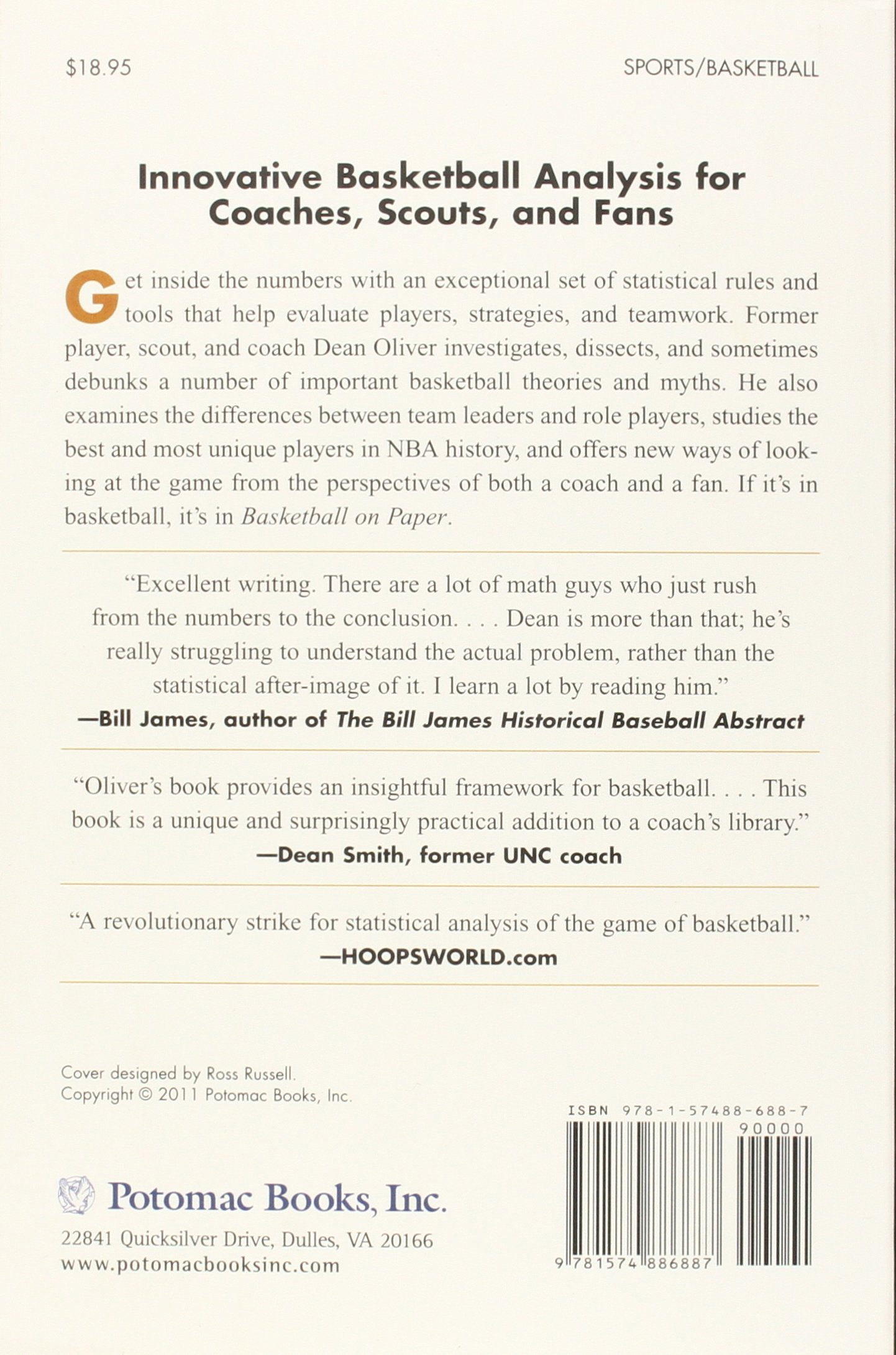 Basketball On Paper: Rules And Tools For Performance Analysis: Dean Oliver:  9781574886887: Amazon: Books
