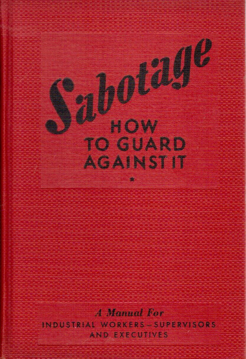 Sabotage,: How to guard against it,, Farren, Harry Desmond
