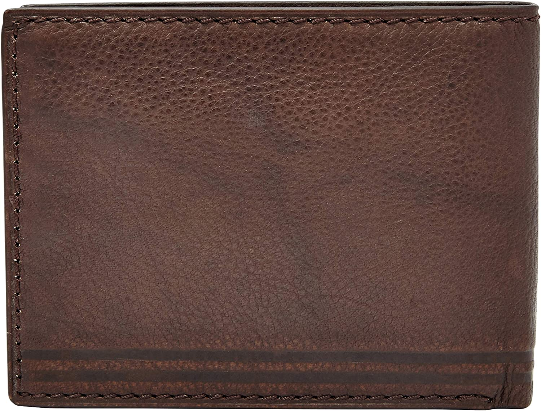 Relic Mens Tyler Embossed Traveler Leather Wallet