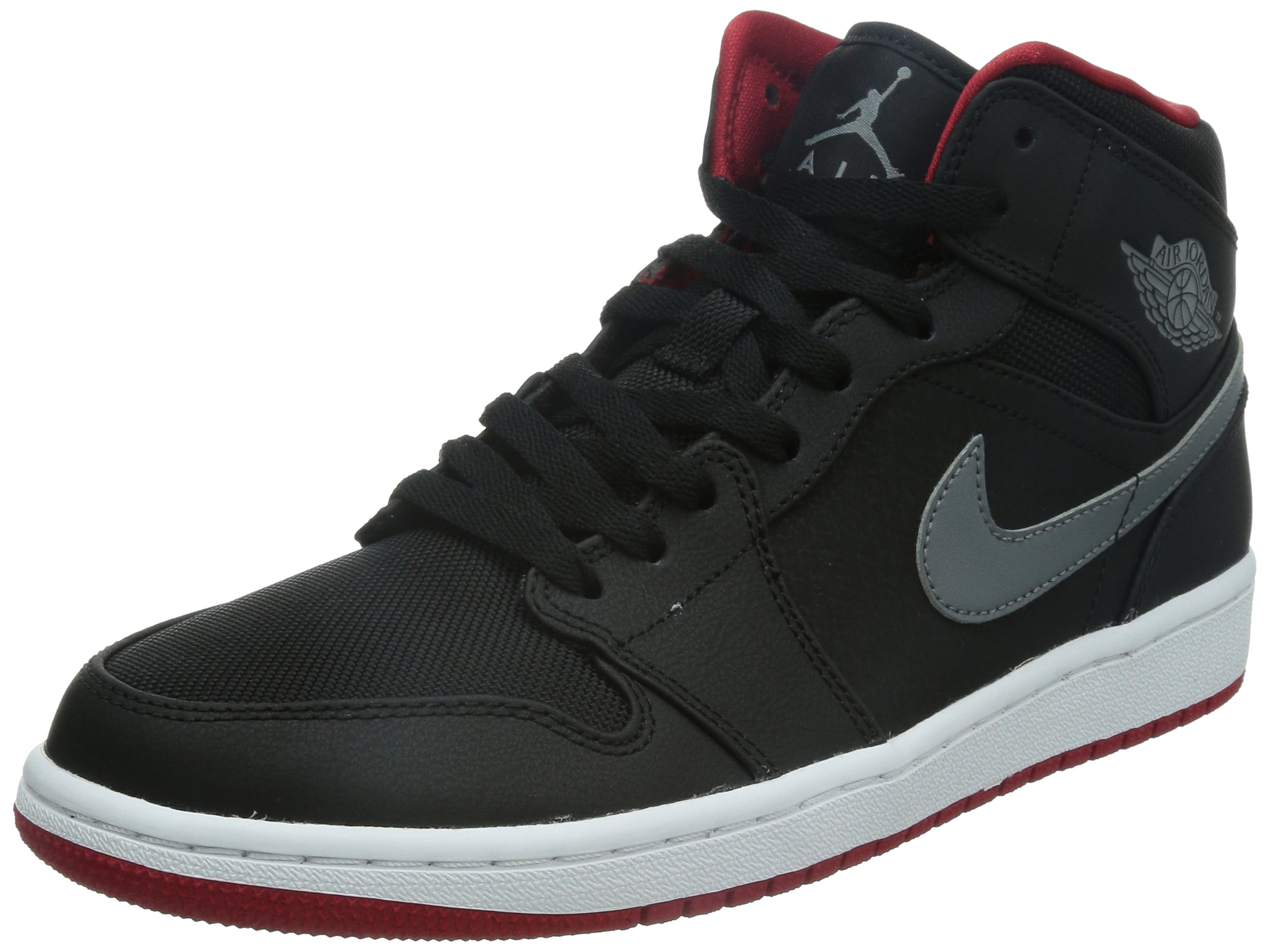 low priced 3a047 48ed8 Galleon - Nike Air Jordan 1 MID Black Grey Red 554724-004 (Size  8.5)