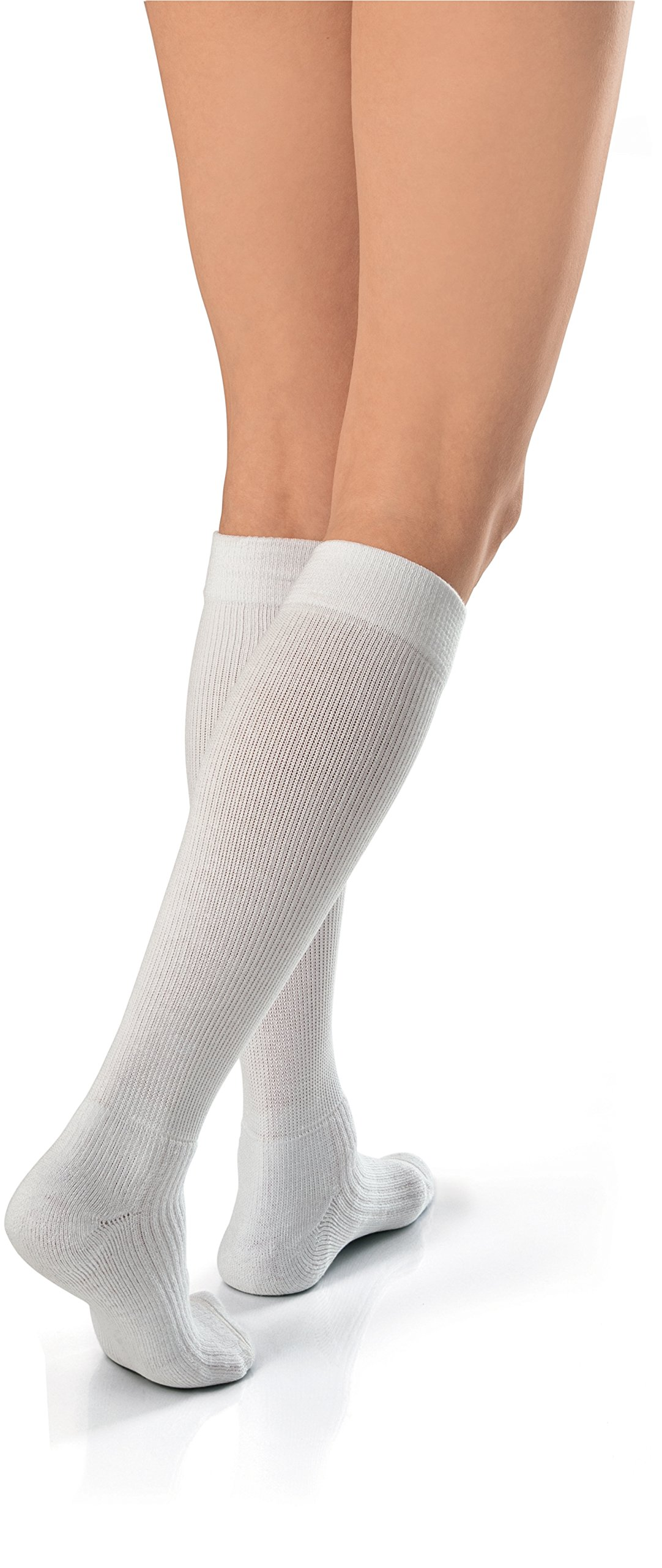 JOBST Activewear 30-40 mmHg Knee High Compression Socks, Small, Cool White