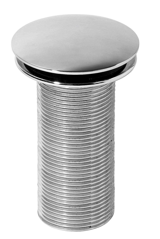 Wirquin 30718711 Bonde de lavabo Design Quick Clac 100 mm Laiton Chromé
