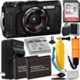 Olympus Tough TG-6 Digital Camera (Black) with Essential Accessory Bundle – Includes: SanDisk Ultra 64GB SDXC Memory…