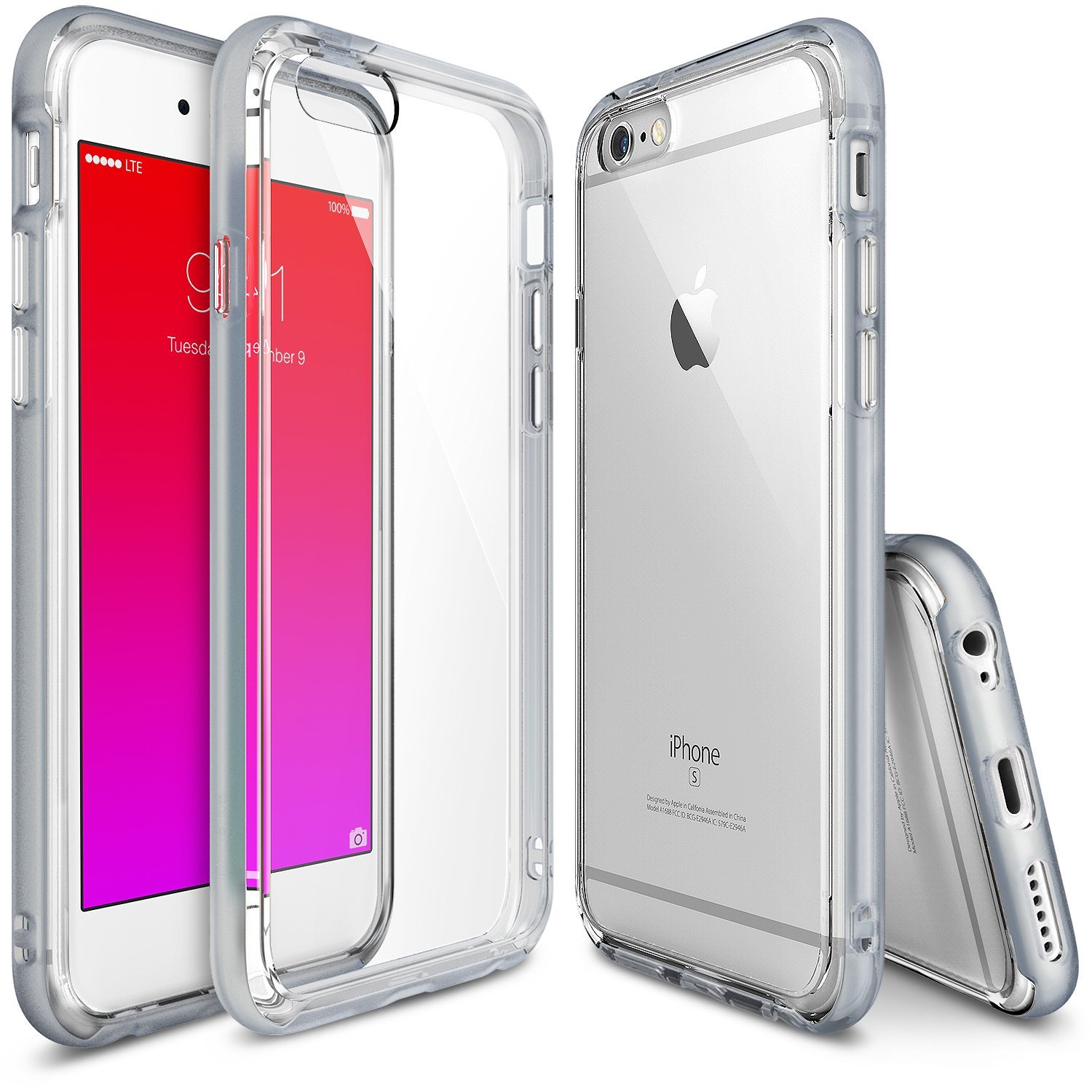 Iphone 6 6s Case Ringke Fusion Frame Dual Layered Lock It Cushion Lip Pen 5 Cindy Rose Tpu Bumper And Pc Frost Grey Drop Protection Clear Back Shock Absorption Protective
