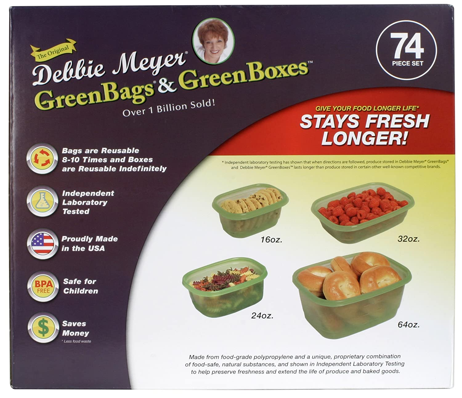 Amazon.com Debbie Meyer Greenbox Greenbag Set (74 Piece Green) Kitchen u0026 Dining  sc 1 st  Amazon.com & Amazon.com: Debbie Meyer Greenbox Greenbag Set (74 Piece Green ...